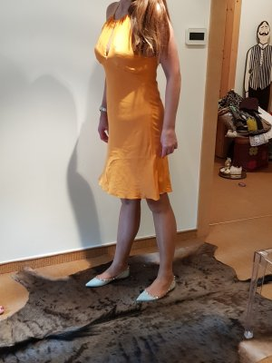 Ralph Lauren Seidenkleid orange