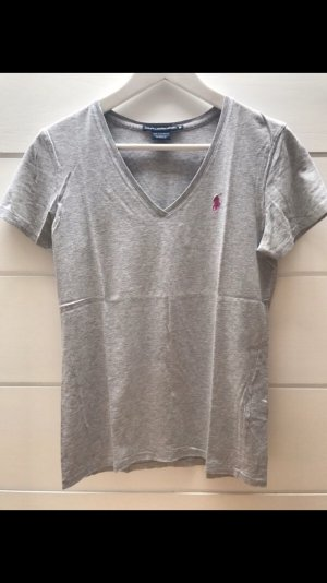 Ralph Lauren Camisa con cuello V gris