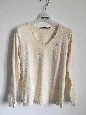 Ralph Lauren Shirt Longsleeve Pima Cotton weiß creme V Ausschnitt