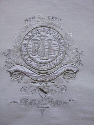 Ralph Lauren Sportshirt zilver-wolwit