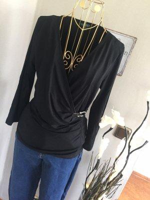 Ralph Lauren Wraparound Shirt black-silver-colored