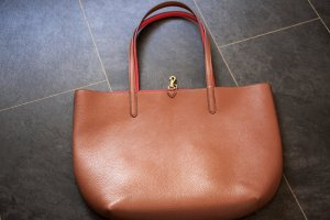 Ralph Lauren Borsa shopper marrone-rosso scuro Finta pelle