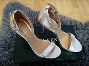 Ralph Lauren High Heel Sandal silver-colored-light brown