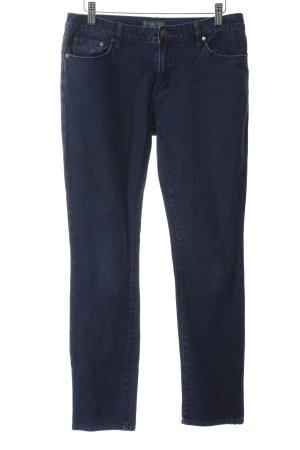 Ralph Lauren Skinny Jeans dunkelblau-bronzefarben Jeans-Optik