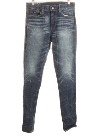 Ralph Lauren Skinny Jeans dunkelblau-wollweiß Street-Fashion-Look