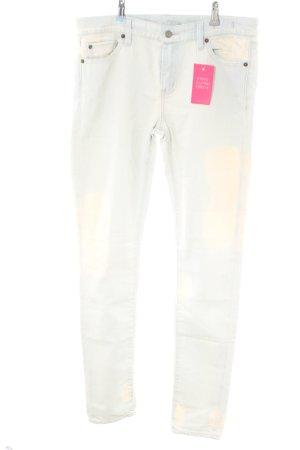 Ralph Lauren Skinny Jeans wollweiß-blau Farbverlauf Casual-Look