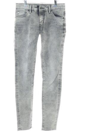 Ralph Lauren Skinny Jeans hellgrau-grau Washed-Optik