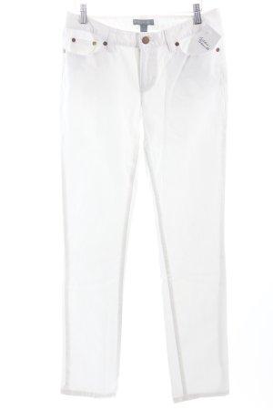 Ralph Lauren Slim Jeans weiß Logo-Applikation aus Metall
