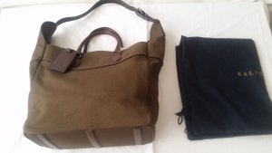Ralph Lauren, Small Tote, Canvas/Leder, oliv, neu, € 650,-