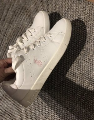 Ralph Lauren Lace-Up Sneaker white-pink