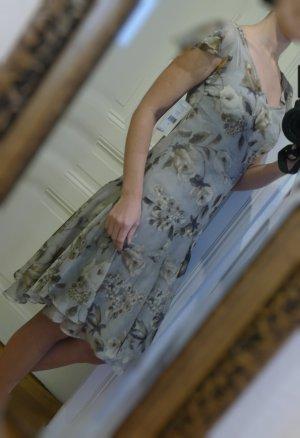 Ralph Lauren Sommer Kleid Gr S 36 Neu Etikett grau  braun