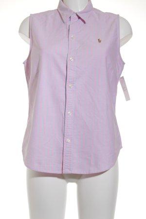 Ralph Lauren Sport ärmellose Bluse rosa-himmelblau Streifenmuster Casual-Look