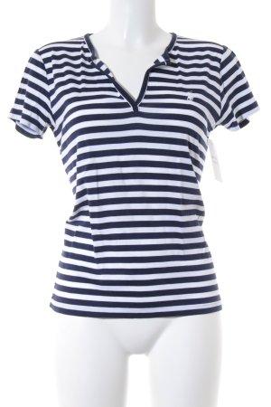 Ralph Lauren Sport Basic Top dunkelblau-weiß Streifenmuster Casual-Look