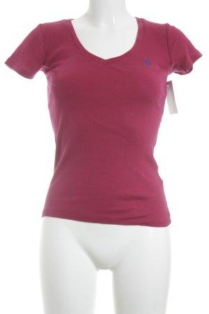 Ralph Lauren Sport Basic Top magenta-blau Casual-Look
