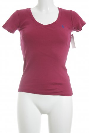 Ralph Lauren Sport Basic Top magenta-blau Casual-Look