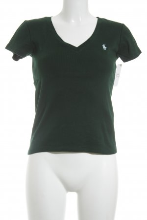 Ralph Lauren Sport Basic Top waldgrün-babyblau Casual-Look