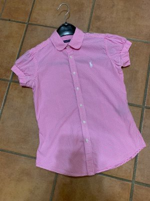 Ralph Lauren Sport Checked Blouse white-pink cotton