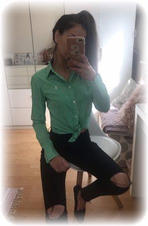 Ralph Lauren Sport Bluse, grün weiß gestreift, slim fit, Gr. 4, xs-s