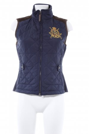 Ralph Lauren Sport Daunenweste braun-dunkelblau Casual-Look