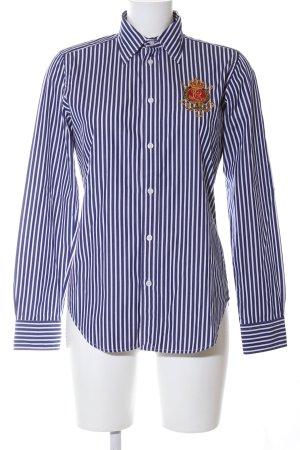 Ralph Lauren Sport Hemd-Bluse blau-weiß Streifenmuster Casual-Look