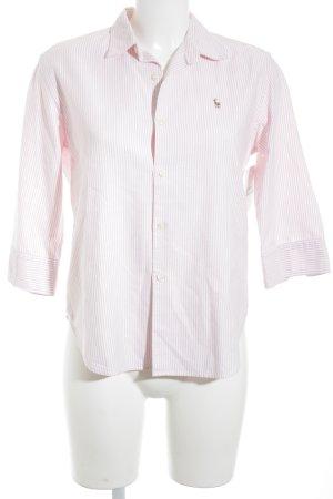 Ralph Lauren Sport Hemd-Bluse altrosa-weiß Streifenmuster Casual-Look