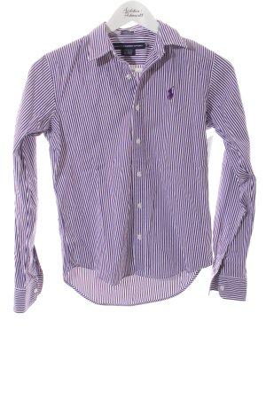 Ralph Lauren Sport Hemd-Bluse blauviolett-weiß Streifenmuster klassischer Stil