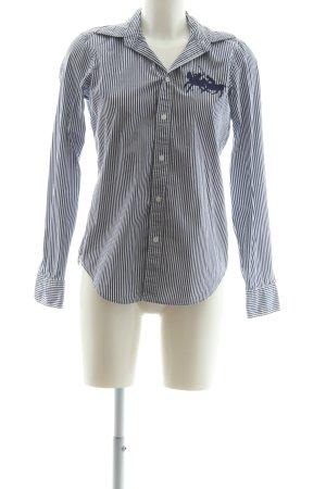 Ralph Lauren Sport Hemd-Bluse dunkelblau-weiß Streifenmuster Casual-Look