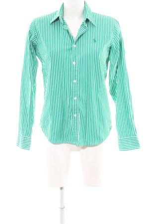 Ralph Lauren Sport Hemd-Bluse grün-weiß Streifenmuster Business-Look