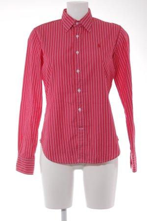 Ralph Lauren Sport Hemd-Bluse magenta-weiß Nadelstreifen sportlicher Stil