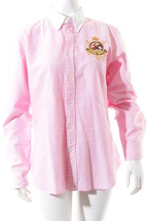 Ralph Lauren Sport Hemd-Bluse rosa-weiß meliert Casual-Look