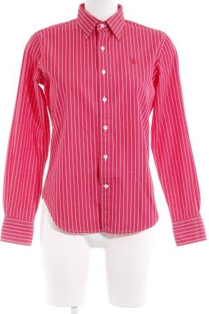 Ralph Lauren Sport Hemd-Bluse rot-weiß Streifenmuster Business-Look