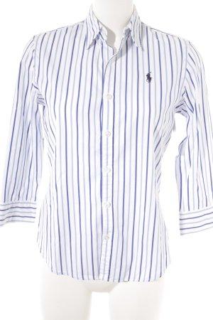 Ralph Lauren Sport Hemd-Bluse weiß-blau Streifenmuster Casual-Look