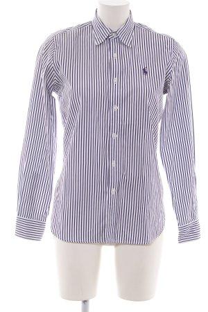 Ralph Lauren Sport Hemd-Bluse weiß-blau Streifenmuster Elegant