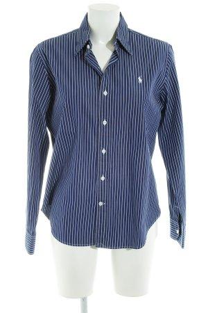 Ralph Lauren Sport Hemd-Bluse weiß-blau Streifenmuster Segel-Look