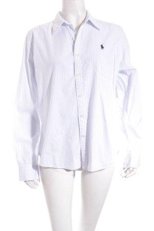 Ralph Lauren Sport Hemd-Bluse weiß-hellblau Streifenmuster Casual-Look