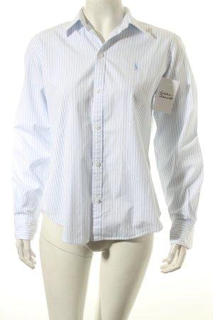 Ralph Lauren Sport Hemd-Bluse weiß-hellblau Streifenmuster klassischer Stil