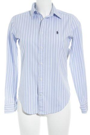 Ralph Lauren Sport Hemd-Bluse weiß-himmelblau Streifenmuster Business-Look