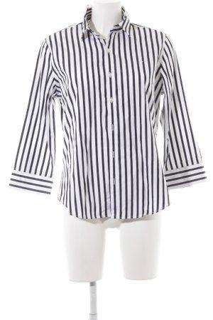 Ralph Lauren Sport Hemd-Bluse weiß-schwarz Streifenmuster Business-Look