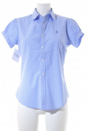 Ralph Lauren Sport Kurzarm-Bluse weiß-himmelblau Karomuster Casual-Look