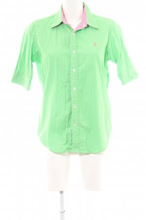Ralph Lauren Sport Short Sleeve Shirt green-white striped pattern casual look
