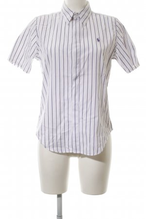 Ralph Lauren Sport Short Sleeve Shirt white-lilac striped pattern business style