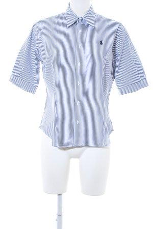 Ralph Lauren Sport Kurzarmhemd dunkelblau-weiß Streifenmuster Elegant