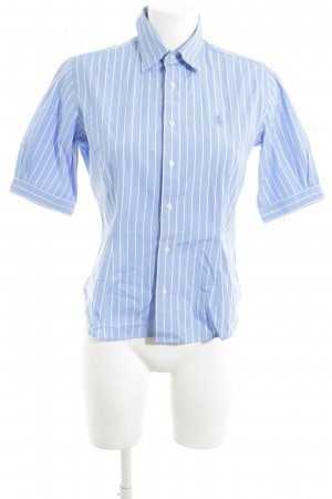 Ralph Lauren Sport Short Sleeve Shirt blue-white striped pattern business style