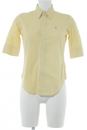 Ralph Lauren Sport Kurzarmhemd gelb Karomuster Casual-Look