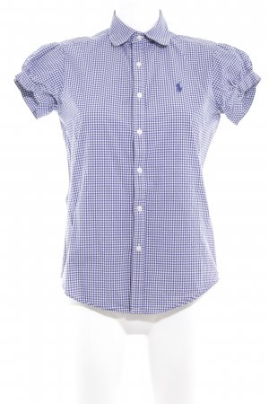 Ralph Lauren Sport Short Sleeve Shirt white-blue check pattern casual look