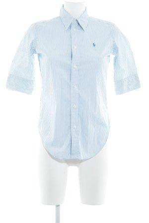 Ralph Lauren Sport Kurzarmhemd wollweiß-kadettblau Streifenmuster Business-Look