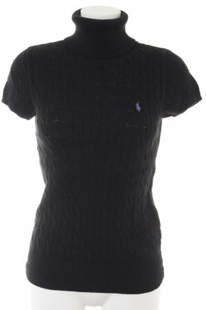 Ralph Lauren Sport Sweater met korte mouwen zwart-paars casual uitstraling