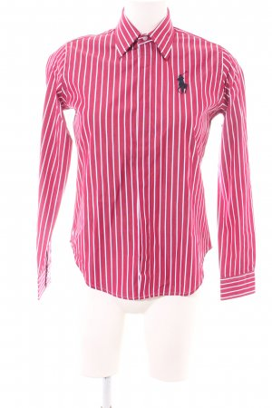 Ralph Lauren Sport Langarm-Bluse rot-weiß Streifenmuster Business-Look