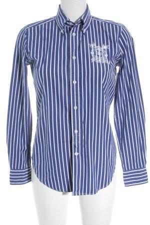 Ralph Lauren Sport Langarm-Bluse blau-weiß Streifenmuster klassischer Stil