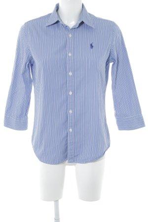 Ralph Lauren Sport Langarm-Bluse weiß-blau Streifenmuster Casual-Look